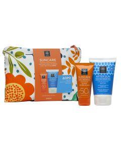 Apivita Suncare Anti-Wrinkle cream SPF50 50 ml & After Sun Cooling cream-gel travel size 100 ml