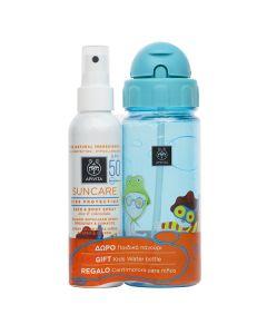 Apivita Suncare Kids Face-Body Spray aloe calendula SPF50 150 ml & Δώρο Παγούρι