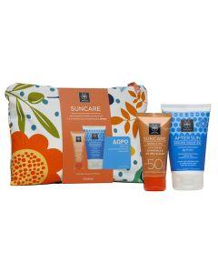 Apivita Suncare Sensitive Face SPF50 50 ml & After Sun Cooling cream-gel travel size 100 ml