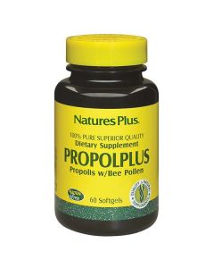 Nature's Plus Propolplus Propolis w/Bee Pollen 60 softgels