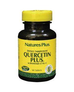 Nature's Plus Quercetin Plus with Vitamin C & Bromelain 60 tabs