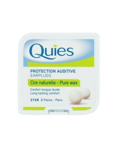 Quies Ear plugs Protection Auditive Cire Naturelle 8 pairs