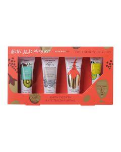 Korres Multi Shots Play Kit Σύσφιγξη Lifting Scrub Kiwi 18 ml & Mask Natural Clay 18 ml & Mask Goji Berry 18 ml & Eye Mask Cucumber 8 ml