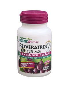 Nature's Plus Resveratrol 125 mg Extended Release 60 tabs