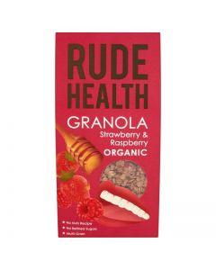Rude Health Granola Strawberry Raspberry Organic 450 gr