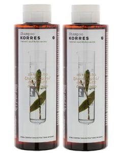 Korres Laurel & Echinacea Shampoo dandruff dry scalp 250 ml 1+1 Free