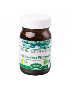 Sanatur Bio Spirulina & Chlorella 250 tabs