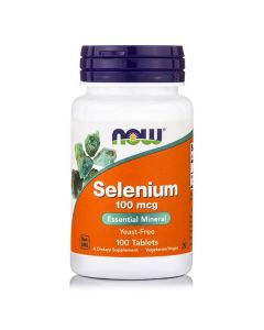 Now Selenium 100 mcg Yeast Free Selenomethionine Vegetarian 100 tabs