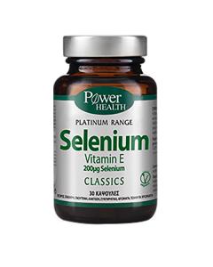 Power Health Platinum Range Selenium 200 μg Vitamin E 30 caps