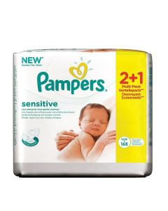 Pampers Baby Wipes Sensitive Refill 3 x 56 wipes