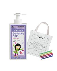 Frezyderm Sensitive Kids Shampoo Girls 200 ml & Free Fabric Painting Bag