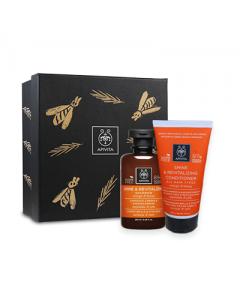 Apivita Gift Set Shine-Revitalizing Shampoo 250 ml & Conditioner 150 ml