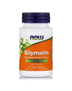 Now Milk Thistle/Silymarin 150 mg plus Turmeric 60 Vcaps