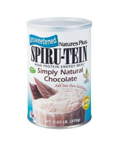 Nature's Plus Spiru-Tein Simply Natural Chocolate Unsweetened 370 gr