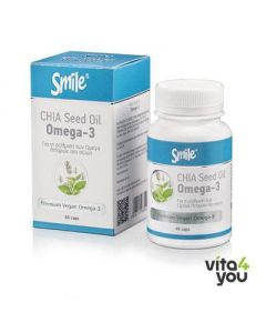 Smile Chia Seed Oil Omega 3 60 caps