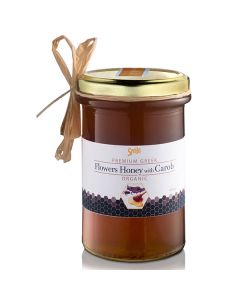 Smile Flowers Honey with Carob 410 gr