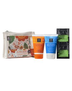 Apivita Suncare Weekend Away Face Body Milk SPF30 100 ml & After Sun cream-gel 100 ml & Express Beauty Face mask Aloe 2 x 8 ml