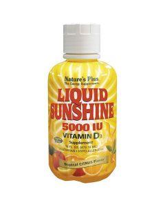 Nature's Plus Liquid Sunshine 5000 IU Vitamin D3 tropical citrus flavor 473 ml