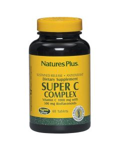 Nature's Plus Super C Complex 1000 mg with Bioflavonoids Sustained release 60 tabs
