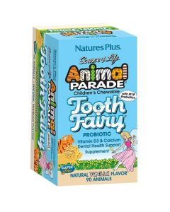 Nature's Plus Animal Parade Tooth Fairy 90 chewable tabs vanilla flavor