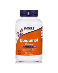 Now Ubiquinol 100 mg 60 sotgels