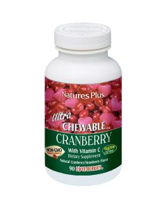 Nature's Plus Ultra Chewable Cranberry w/vitamin C cranberry-strawberry flavour 90 tabs