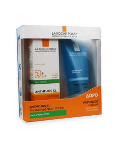 La Roche Posay Anthelios XL Dry Touch Anti-shine gel-cream SPF50+ 50 ml & Δώρο Posthelios Hydra gel 100 ml