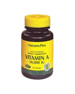 Nature's Plus Vitamin A 10000 IU water dispersible  90 tabs