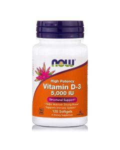 Now Vitamin D3 5000 IU 120 softgels