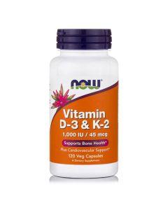 Now Vitamin D3 & K2 120 Vcaps