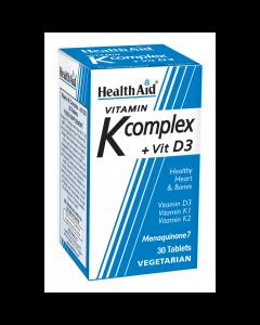 Health Aid Vitamin K Complex + Vit D3 30 veg tabs