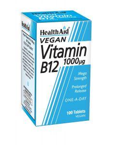 Health Aid Vegan Vitamin B12 (Cyanocobalamin) 1000 µg 100 veg tabs
