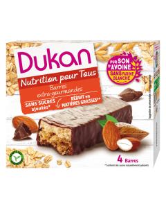 Dukan Chocolate Almond Coated Oat Bran Bars 120 gr