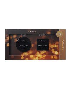 Korres Warm Beauty Set Festive Glow Minerals Illuminating Setting Powder 9 gr & Metallic-Shine Eyeshadow Copper 1.5 gr