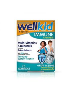 Vitabiotics Wellkid Immune chewable 4-12 years Orange & lemon flavour 30 tabs
