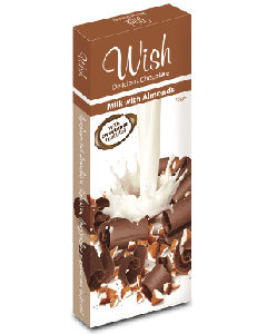 Wish Milk chocolate with almonds 75 gr