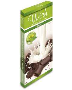 Wish Milk chocolate with stevia 50 gr
