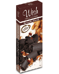 Wish Dark almond chocolate 75 gr