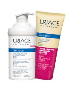 Uriage Xemose Lipid-replenishing anti-irritation Cream 400 ml & Cleansing Soothing Oil 200 ml